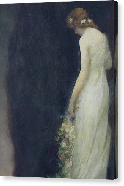 Wedding Bouquet Canvas Print - Evening by Gabriel-Joseph-Marie-Augustin Ferrier