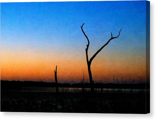 Canvas Print featuring the photograph Evening Glow by Beverly Stapleton
