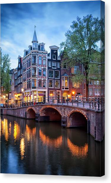 Evening In Amsterdam Canvas Print