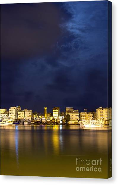 Evening In Ezbet El-borg Canvas Print