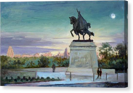 Evening In Forest Park Saint Louis Canvas Print