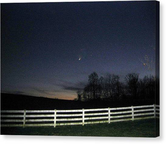 Evening In Horse Country Canvas Print