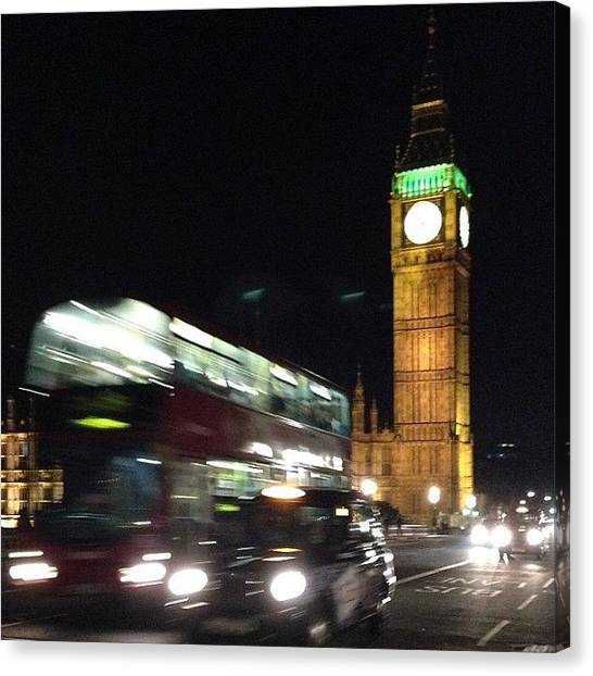 Parliament Canvas Print - Evening In London by Raena
