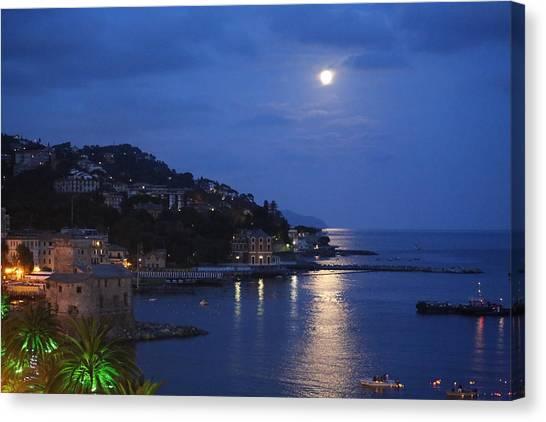 Evening In Rapallo Canvas Print by Roberto Galli della Loggia