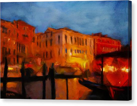 Evening In Venice Canvas Print