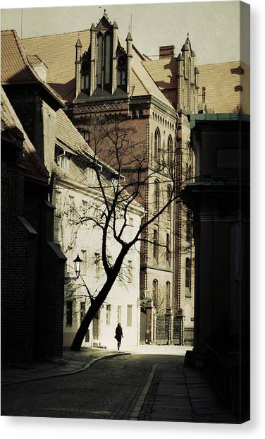 European Canvas Print - Evening In Wroclaw by Cambion Art