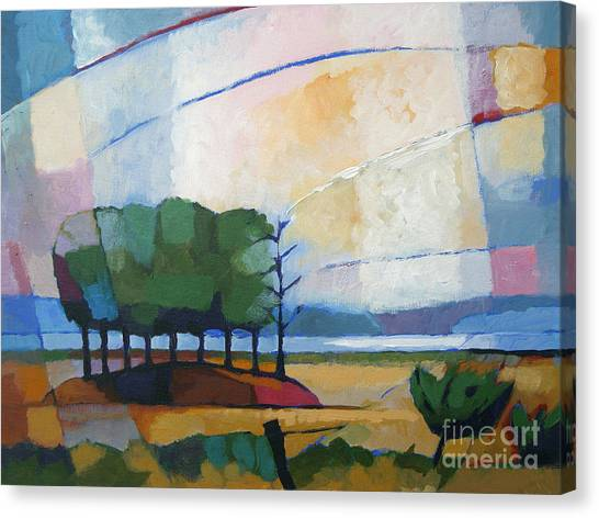 Outdoors Canvas Print - Evening Landscape by Lutz Baar