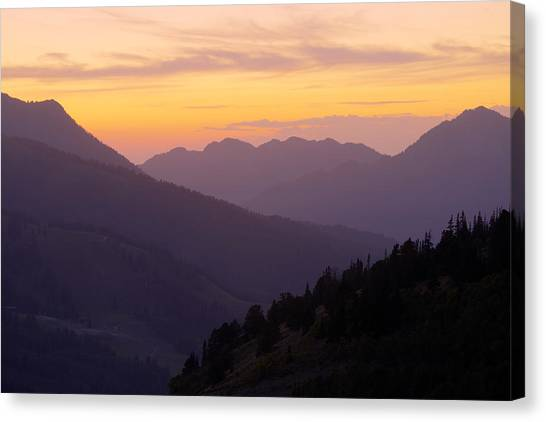Mountain West Canvas Print - Evening Layers by Chad Dutson