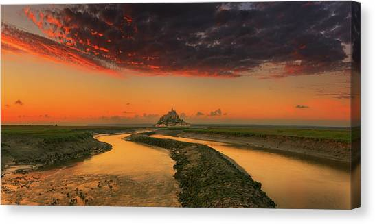 Saints Canvas Print - Evening Light... by Krzysztof Browko