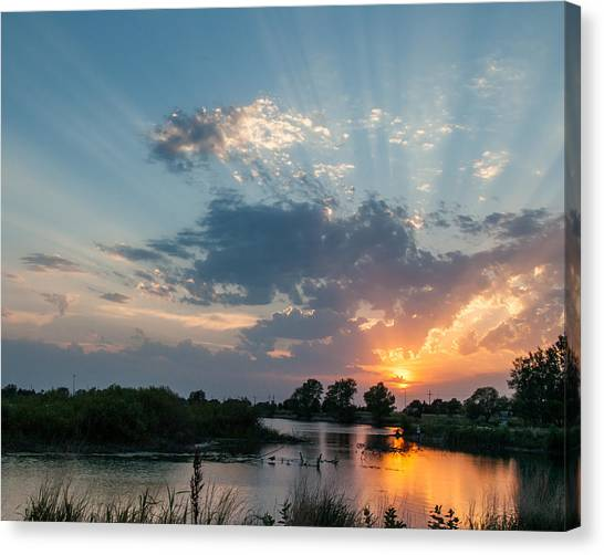 Eagle Scout Canvas Print - Evening Light by Lynnette Gibson