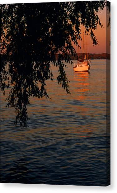 Evening Mooring - Lake Geneva Wisconsin Canvas Print