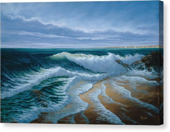 Evening On Monterey Bay Canvas Print