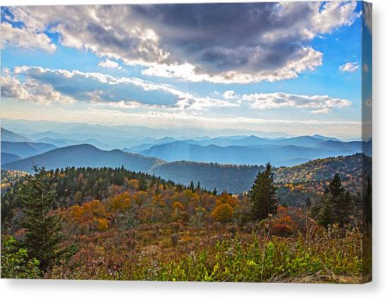 Evening On The Blue Ridge Parkway Canvas Print