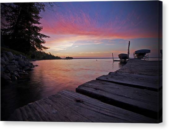 Evening On The Dock Canvas Print