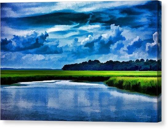 Evening On The Marsh Canvas Print