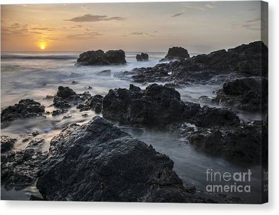 Evening On The Rocky Shore Canvas Print