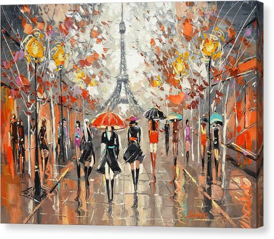 Evening. Paris Canvas Print