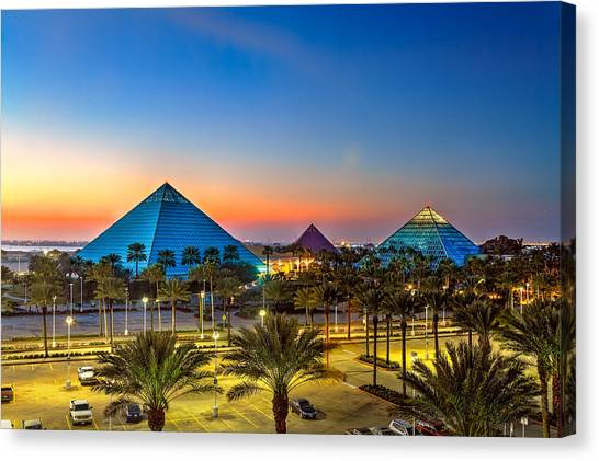 Evening Pyramids Canvas Print