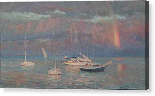Evening Rainbow Canvas Print by Korobkin Anatoly