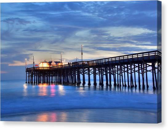 Evening Reflections Newport Beach Pier Canvas Print