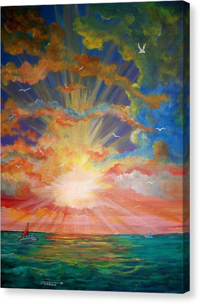 Evening Sail II Canvas Print
