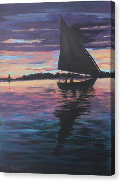Evening Sail Canvas Print by Jane Croteau
