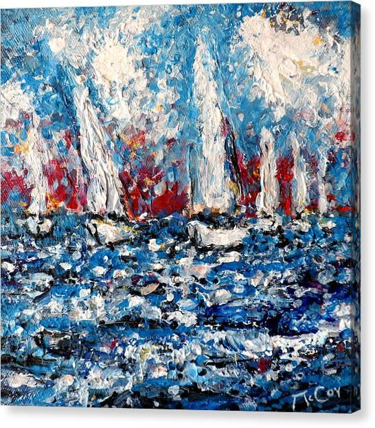 Evening Sailing Canvas Print