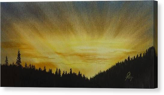 Evening Splendour Canvas Print