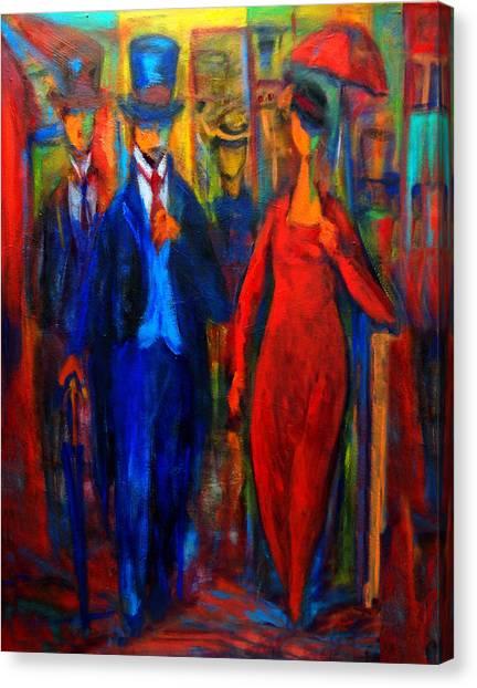 Evening Stroll  Canvas Print by Marina R Burch