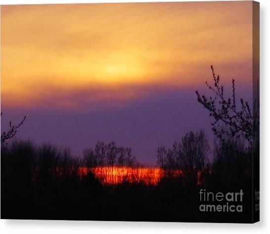 Evening Sunset Lake Canvas Print