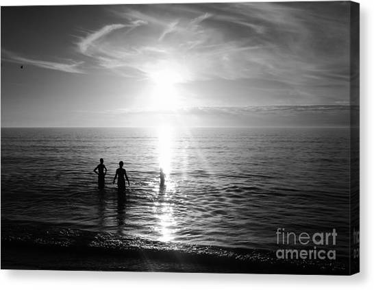 Evening Swim Canvas Print