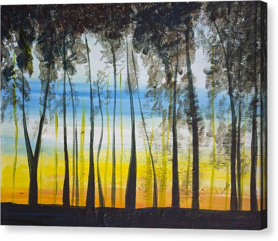 Evening Trees Canvas Print