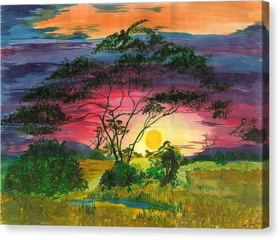 Evenings Bliss Canvas Print by Beverly Marshall