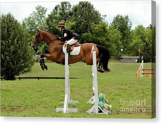 Eventing Jumper Canvas Print