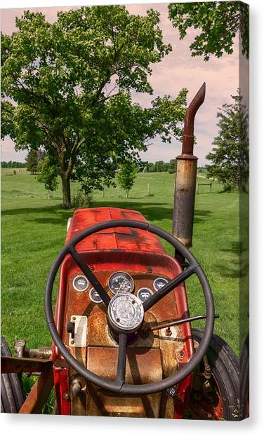 Canvas Print featuring the photograph Ever Drive A Tractor by Garvin Hunter