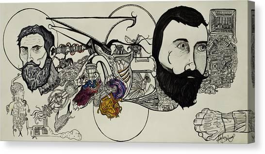 Ever Lasting Youth Aka The Organ Eater Canvas Print by Nickolas Kossup
