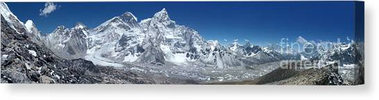 Mount Everest Canvas Print - Everest Panorama by Colin Woods