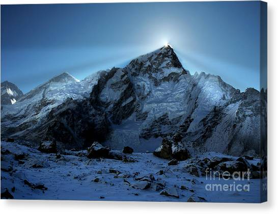 Mount Everest Canvas Print - Everest Sunrise by Colin Woods
