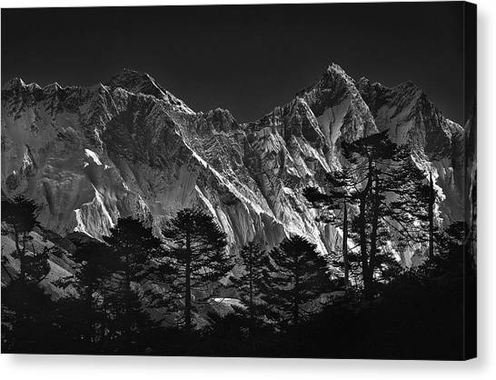 Mount Everest Canvas Print - Everest View by Sorin Tanase