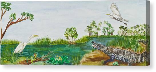 Everglades Critters Canvas Print