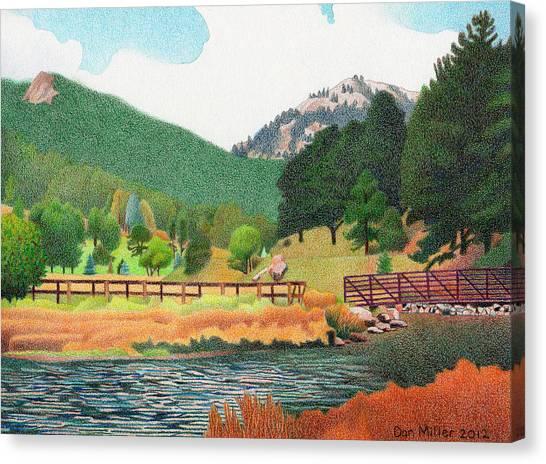 Evergreen Lake Spring Canvas Print
