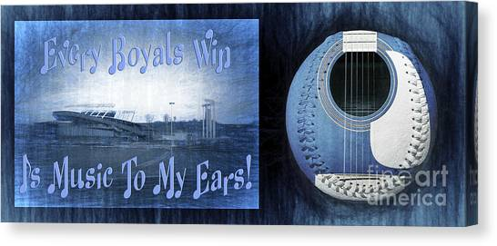 Kansas City Royals Canvas Print - Every Royals Win Is Music To My Ears by Andee Design