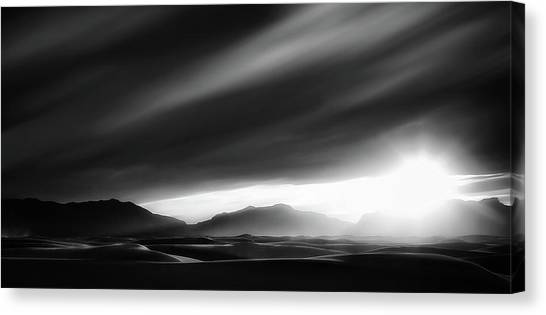 White Sand Canvas Print - Every Sunrise Is A Gift by Yvette Depaepe