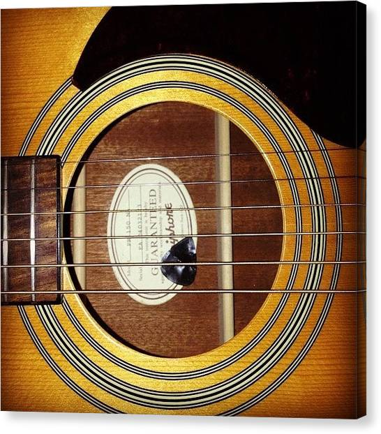 String Instrument Canvas Print - Guitar  by Holly Ochieng