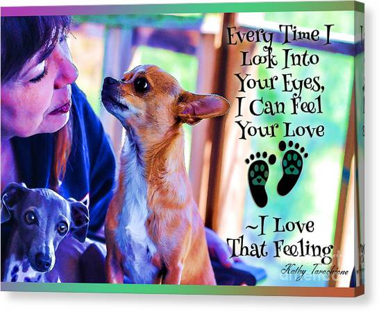 Every Time I Look Into Your Eyes Canvas Print