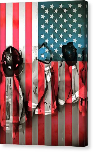 Nyfd Canvas Print - Everyday Heroes by Dan Sproul
