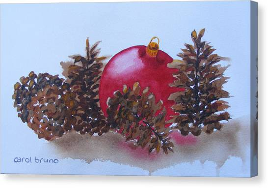 Everyone's Welcome At Christmas Canvas Print by Carol Bruno