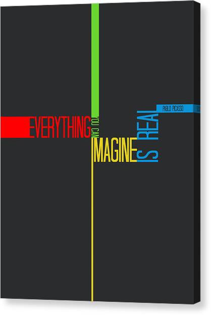 Comical Canvas Print - Everything You Imagine Poster by Naxart Studio
