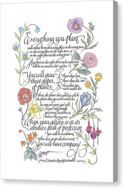 Everything You Plant Canvas Print