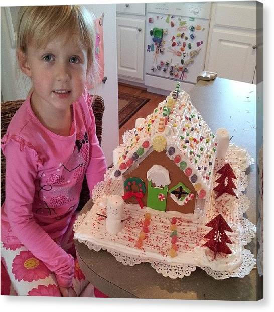 Holidays Canvas Print - Evey And Mommy Finished The Gingerbread by Chris Morgan